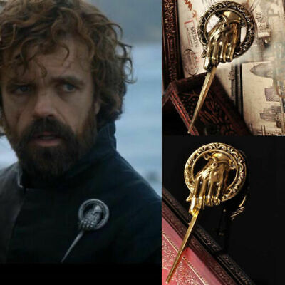 Game of Thrones Hand of The King Metal Bronze Brooch Pin Vintage Replica Costume