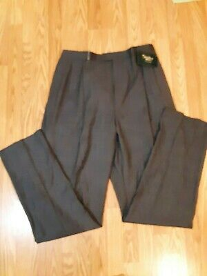 Palm Beach Men's Reflex Worsted Wool Suit Pants 46  Unhemmed NWT Plea Front NWT