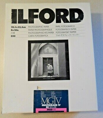 Ilford MGIV Multigrade IV RC Deluxe MGD.1M 8x10 250 sheets. Old. Good?