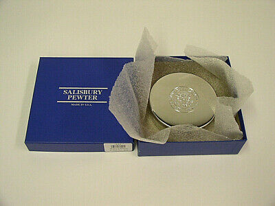 "Salisbury Pewter 4"" Camp David Presidential Retreat Jewel/Trinket Box"