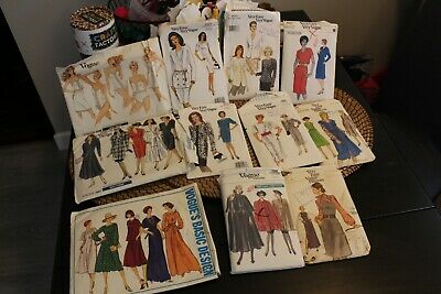 m Vogue Vintage Sewing Pattern's 1940-1990'S priced individually