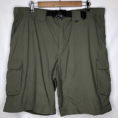 Boy Scouts Of America Mens Classic Large Cargo Shorts Green BSA Hiking EUC