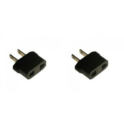 2-Pack European to American Adapter Plug Converter EU to USA
