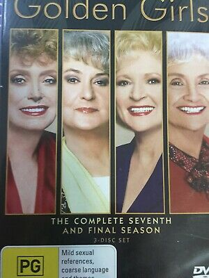 THE GOLDEN GIRLS - Season 7 3 x DVD Set Exc Cond! Complete Seventh Series Seven