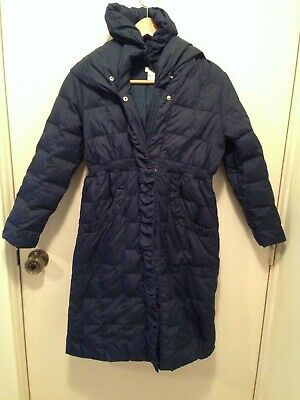 Monsoon Feather Down Girls Winter Snow Jacket Navy Blue Size 10 - 12 years (y)