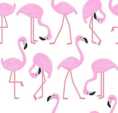 "FLAMINGOS Print 100% Pure Cotton Material Fabric Craft Boys Girls Kids 45"" Width"