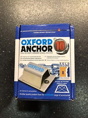 Brand New In Box Oxford Motorbike/Cycle Ground And Wall Anchor