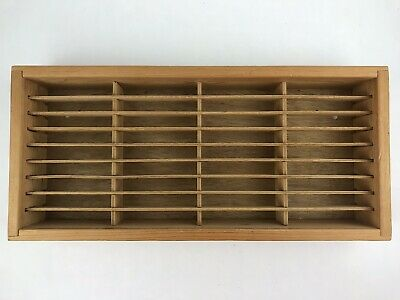 Napa Valley Box Co Wooden Wall Mount 36 Cassette Tape Storage Rack Case Holder B