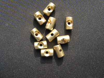 Brass cable nipples 6mm dia x 4.0mm Long pack of 10