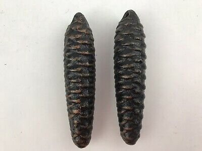 Vintage Cuckoo Clock Weights Black Pinecone 275 Grams Set of 2
