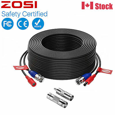 ZOSI 100ft CCTV Security Camera DVR Surveillance Video Power Extension BNC Cable