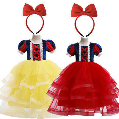 Girls' Princess Snow White Costume Fancy Dresses Up Halloween Party