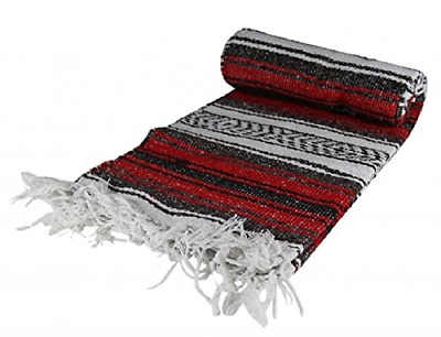 Authentic Mexican Falsa Blanket Red