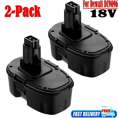 2X DC9096-2 For DeWalt 18V NI-CD 3.0AH Replacement Battery Pack DC9098 DW9098