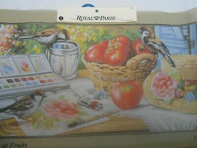 "Royal Paris ""Oiseaux et Fruits""  Printed Tapestry Canvas only"