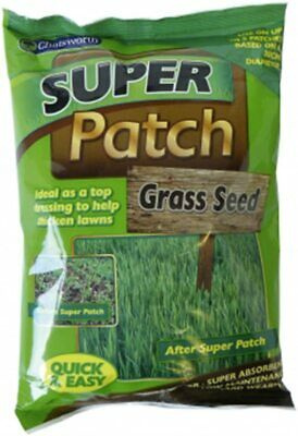 2x200g Super Patch Grass Seed Gardening Thicken Lawns for 12 Patches UK SELLER