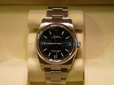 MENS ROLEX OYSTER Perpetual Date 34mm Stainless Steel Blue