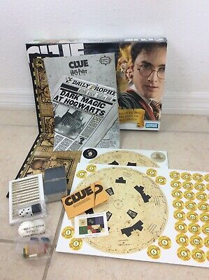 NEW Clue Harry Potter Edition 2008 Hasbro Family Board Game Complete Moving