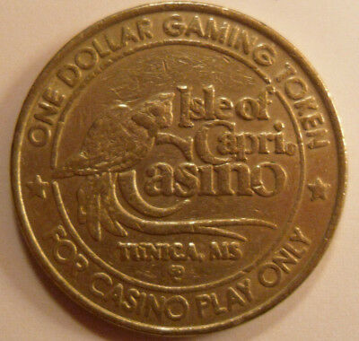 Isle of Capri Casino, Tunica, MS -  $1 metal gaming token -Vintage