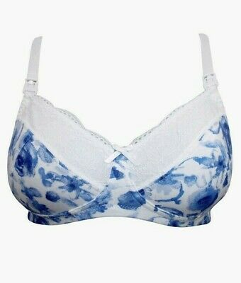 New Maternity Nursing Bra Blooming Marvellous Mothercare Non Wired Blue Mix