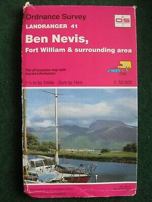Ordnance Survey Map.   Landranger  41.    Ben Nevis, Fort William Etc.
