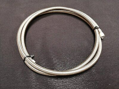 "6AN 3/8"" Stainless Steel Braided Teflon PTFE Hose 3m"