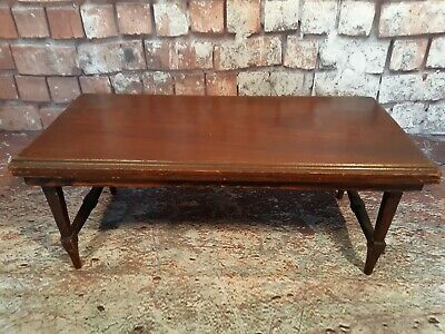 Antique Vintage Solid Wooden Bed Lap Small Side Tabletop Table