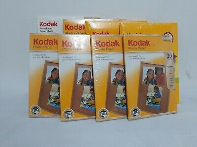 "Lot Of 8 Kodak Photo Paper Gloss 4 X 6"" 160 Sheets Works On All Inkjet Printers"