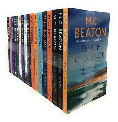 Hamish Macbeth Murder Mysteries 18 Books Set Collection By M.C Beaton