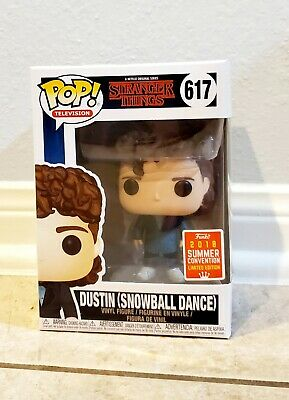 Funko Pop Stranger Things Dustin Snowball Dance #617 2018 SDCC Summer Convention
