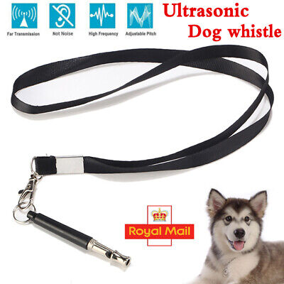 UK Dog Whistle Puppy Training Silent Ultrasonic Pitch Sound & Key Chain 2 IN 1