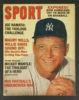 1965 August Sport Magazine Mickey Mantle / Joe Namath / Willie Davis