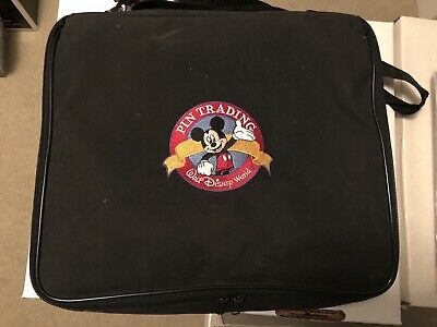 Disney Pin Trading Bag! Large Bag! Mickey! w/Strap