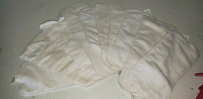 10PCS Cotton Cloth Baby Diapers Inserts Liners 3 Layers Reusable Newborn Nappy.