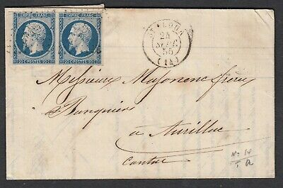 N°14 Paire Pc St Flour Cantal Aurillac Lettre Cover France
