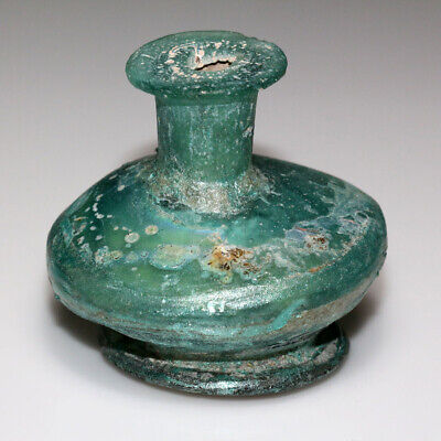 Superb-Near East Roman Era Glass Bottle Circa 100-300 Ad