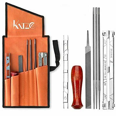 Katzco 8 Piece Chainsaw Sharpener File Kit  Contains 5/32, 3/16, 7/32 Inch Files