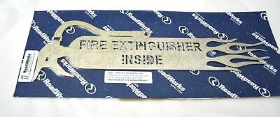 """Fire Extinguisher Inside cut outs 18.5"""" stainless steel w/flames semi truck pair"""