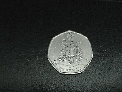 London 2012 Olympic 50p (50 pence) coin hunt dated 2011 boccia circulated