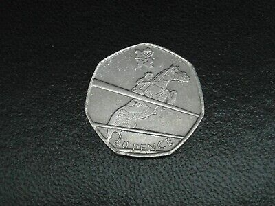 London 2012 Olympic 50p (50 pence) coin hunt dated 2011 equestrian circulated