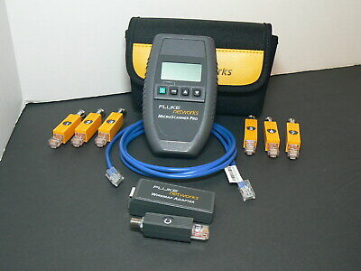 Fluke Networks MicroScanner Pro Network Cable Tester/Verifier with Accesories