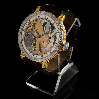 "PATEK PHILIPPE & Co WRIST WATCH SKELETON ""MONKEY'S"" ENGRAVED SWISS MOVEMENT"