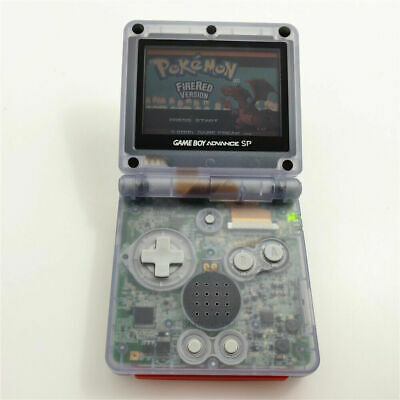 Nintendo Game Boy Advance GBA SP Transparent Clear Glacier System AGS 001 MINT