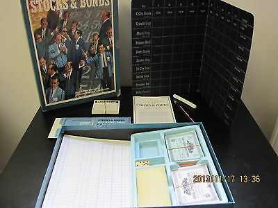 STOCKS & BONDS  Board Game (3M Bookshelf Games, 1964) *Complete