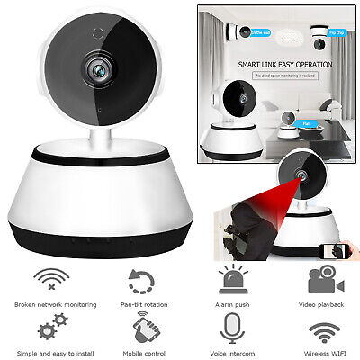 HD 720P Wireless IP Security Camera Two Way Audio Home Smart Wifi Baby Monitor
