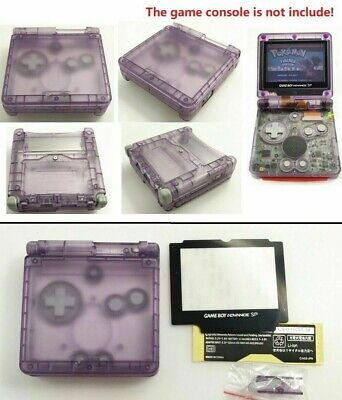 GBA SP Game Boy Advance SP Replacement Housing Shell Transparent Clear Purple