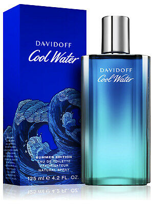 Cool Water Summer Cologne by Davidoff, 4.2 oz EDT Spray for Men NEW 2019