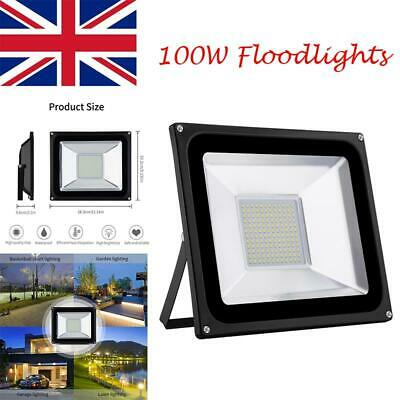 220V SMD 2835 100W Warm White LED Flood Light Outdoor Landscape Garden Spot Lamp