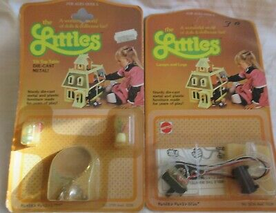 Vintage The Littles Diecast Doll House Furniture Lamp/Logs/Table -UNOPENED