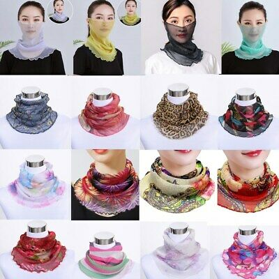 Variety Collars Women Ladies UV Protection Neck Mouth Dust Cover Sunblock Mask
